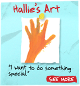 Hallie's Art - 'I want to do something special' - See More