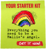 Your Starter Kit - Everything you need to be a Hallie's Angel. Get It Now!